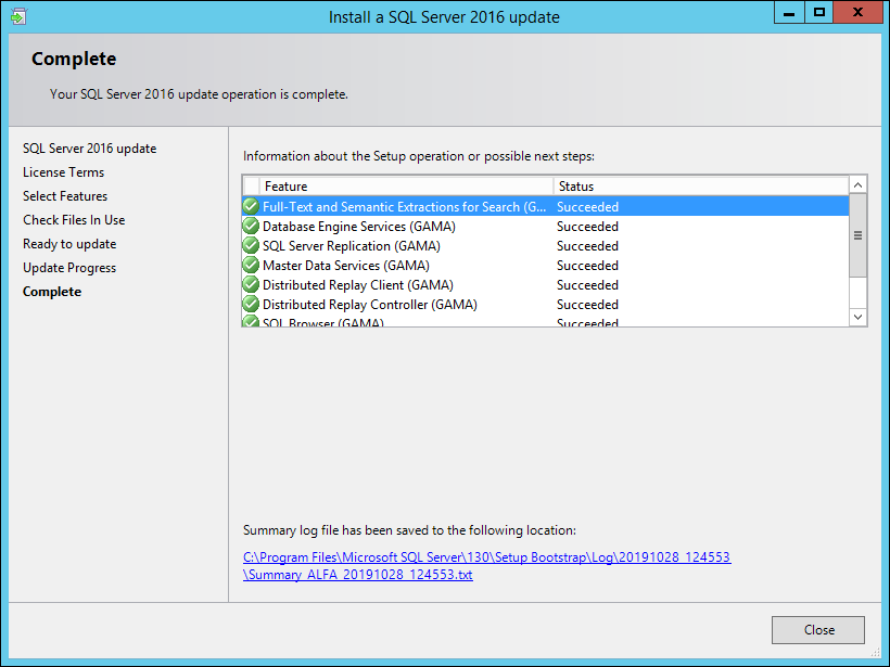 Apply latest service pack to standalone SQL Server – Our ...
